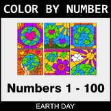 Earth Day Color By Number 1 - 100