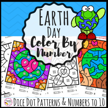 Earth Day Color By Number Math Activity by PrintablePrompts TpT