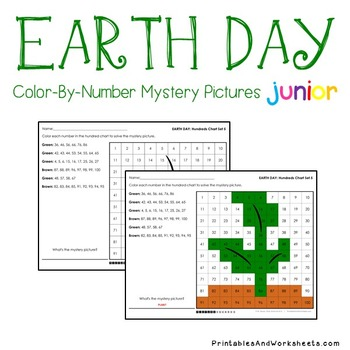 Earth Day Place Value Color By Number Worksheets