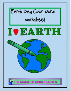 Earth Day Color Word Fun
