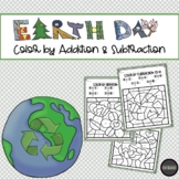 Earth Day Color by Addition & Subtraction