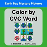 Earth Day: Color by CVC Word - Earth Day Mystery Pictures