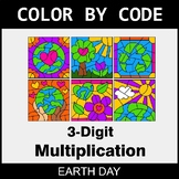 Earth Day Color by Code - 3-Digit Multiplication