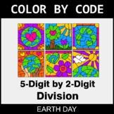 Earth Day Color by Code - 5-Digit by 2-Digit Division