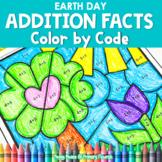 Earth Day | Color-by-Code Addition | Color by Number