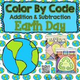 Earth Day Color by Code:  Addition and Subtraction