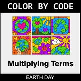 Earth Day Color by Code - Algebra: Multiplying Terms