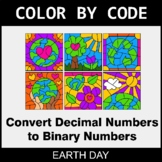 Earth Day Color by Code - Binary Numbers