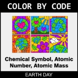 Earth Day Color by Code - Chemical Symbol, Atomic Number,