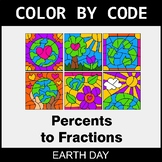 Earth Day Color by Code - Converting Percents to Fractions
