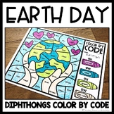 Earth Day Color by Code Diphthongs