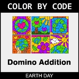 Earth Day Color by Code - Domino Addition