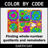 Earth Day Color by Code - Find Whole-Number Quotients and