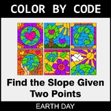 Earth Day Color by Code - Find the Slope Given Two Points