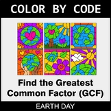 Earth Day Color by Code - Greatest Common Factor (GCF)