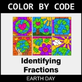 Earth Day Color by Code - Identifying Fractions