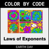 Earth Day Color by Code - Laws of Exponents