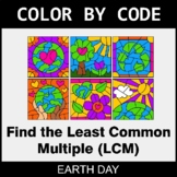 Earth Day Color by Code - Least Common Multiple (LCM)