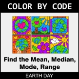 Earth Day Color by Code - Mean, Median, Mode, Range