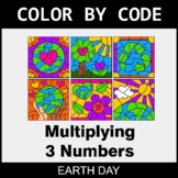 Earth Day Color by Code - Multiplying 3 Numbers