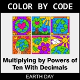Earth Day Color by Code - Multiplying by Powers of Ten Wit