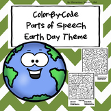 Earth Day-Color by Code-Parts of Speech