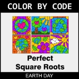 Earth Day Color by Code - Perfect Square Roots
