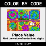 Earth Day Color by Code - Place Value of Underlined Digit