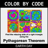 Earth Day Color by Code - Pythagorean Theorem