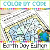 Earth Day Color by Code | Reduce, Reuse, Recycle
