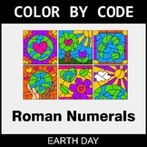 Earth Day Color by Code - Roman Numerals