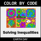 Earth Day Color by Code - Solving Inequalities with Additi