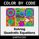 Earth Day Color by Code - Solving Quadratic Equations