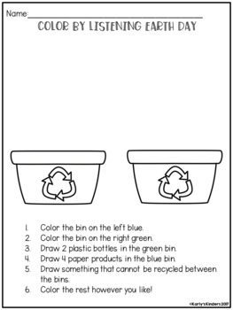 Earth Day Color by Listening (A Following Directions Activity)