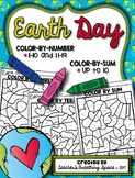 Earth Day Color-by-Number 1-10 & 11-19 and Color-by-Sum (up to 10)