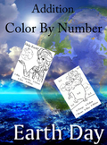 Earth Day Color by Number Addition Worksheets
