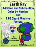 Earth Day- Color by Number Addition and Subtraction and Mystery Picture