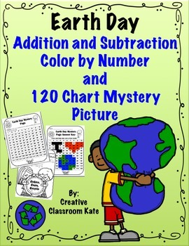Earth Day- Color by Number Addition and Subtraction and My