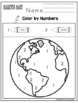 Earth Day Color by Number- Number Cards and More