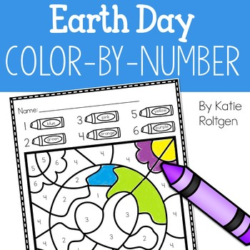 Earth Day Color-by-Number Pages
