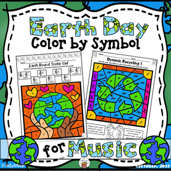 Earth Day Color by Symbol for Music