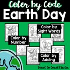 Earth Day Color by Number & Sight Word