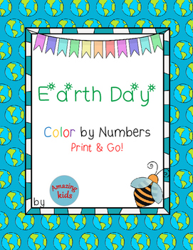 Earth Day – Color by Numbers