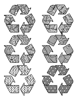 Earth Day Coloring Clip Art Set Commercial and Personal Use