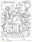Earth Day Coloring Page!