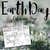 Earth Day Coloring Page Freebie