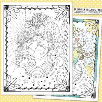 picture about Earth Day Printable Coloring Pages identified as Globe Working day Coloring Web page Printable, No Prep Game, Neighborhood, Compion