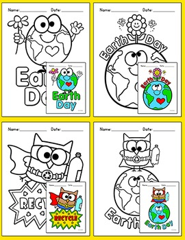 Earth Day Activities Coloring Pages