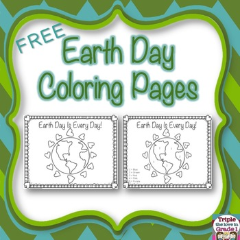 Earth Day Coloring Pages - FREE