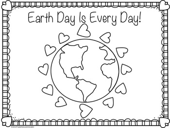 Earth Day Coloring Pages FREE by Triple the Love in Grade 1 TpT